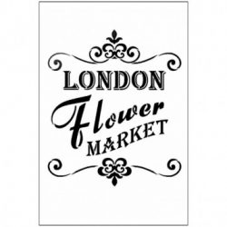 Stencil, 21x29,7 cm - London flower market