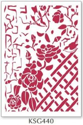 Stencil, 21x29,7 cm - Fence with Roses