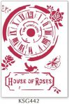 Stencil, 21x29,7 cm - Clock House of Roses